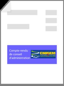 Extrait du compte rendu de C.A. du CNIGEM au 11 septembre 2018