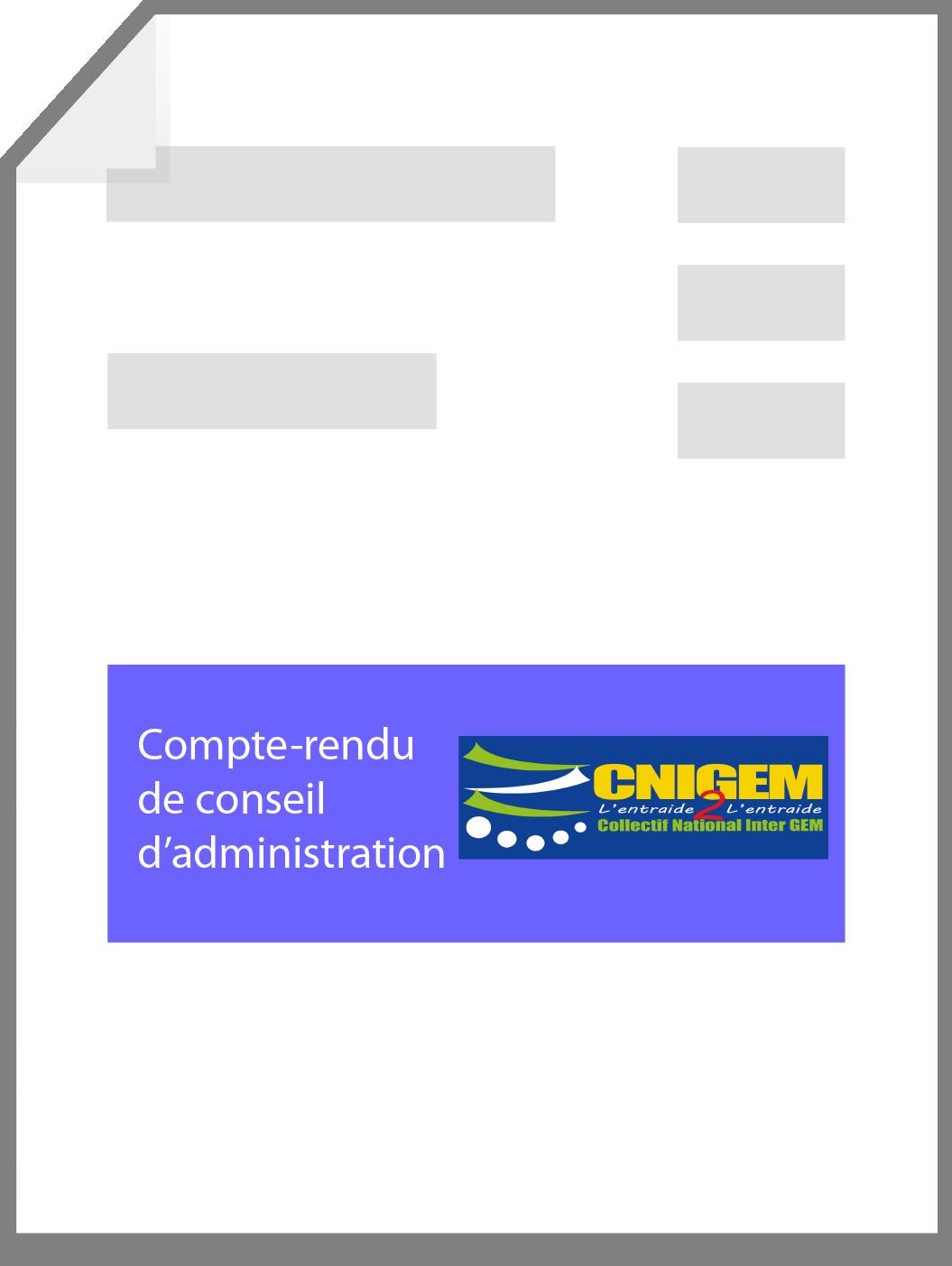 Extrait du compte rendu de C.A. du CNIGEM au 20 novembre 2018