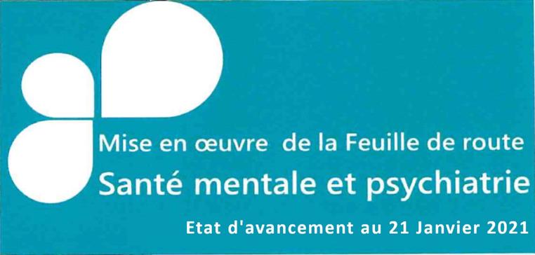 22-01-2021 : Feuille de route de la santé mentale et de la psychiatrie : état d'avancement au 21 janvier 2021