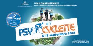 Read more about the article l'Unafam organise la 7e édition de Psycyclette du 6 au 13 septembre 2021