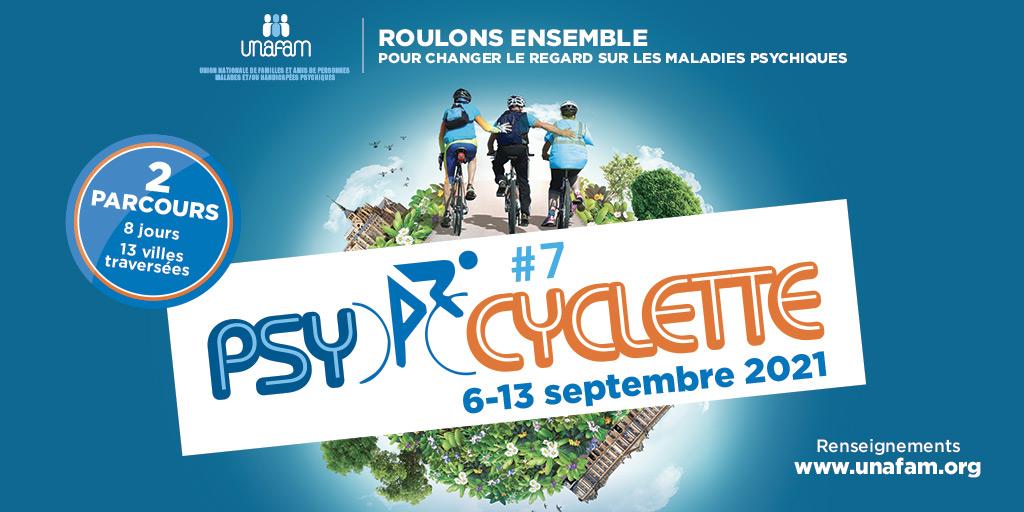 You are currently viewing l'Unafam organise la 7e édition de Psycyclette du 6 au 13 septembre 2021